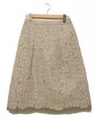 LEILIAN(レリアン)の古着「オーガンジーフラワースカート」|グレー