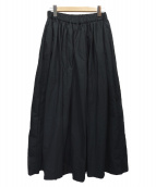 mizuiro-ind(ミズイロインド)の古着「タックフレアパンツ」|ブラック