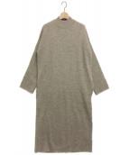 Midi-Umi(ミディウミ)の古着「ボトルネックニットワンピース」|ベージュ