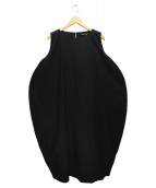 mizuiro-ind(ミズイロインド)の古着「ノースリーブコクーンワンピース」|ブラック