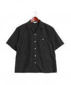 FILL THE BILL(フィルザビル)の古着「玉縁ポケットオープンカラーシャツ」|ブラック