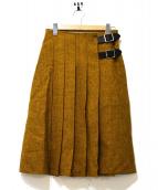 ONEIL OF DUBLIN(オニール オブ ダブリン)の古着「ウールナイロンキルトスカート」 イエロー