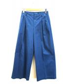 CellarDoor(セラドール)の古着「タックワイドパンツ」|ブルー