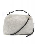 GIANNI CHIARINI(ジャンニ・キャリーニ)の古着「ボア2WAYショルダーバッグ」|ホワイト