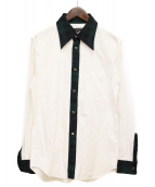 COMME des GARCONS HOMME PLUS(コムデギャルソンオムプリュス)の古着「チェック切替シャツ」|グリーン×ホワイト