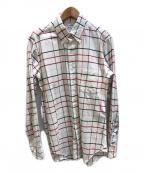 Thom Browne(トムブラウン)の古着「チェックシャツ」|ホワイト