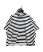 kolor/BEACON(カラービーコン)の古着「ボーダータートルネックTシャツ」