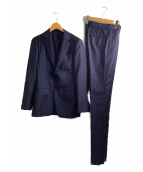 TOMORROW LAND(トゥモローランド)の古着「Super110sウールサージ2Bスーツ」|ネイビー