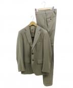 TOMORROW LAND PILGRIM(トゥモローランド ピルグリム)の古着「Super140sウールサージ 段返り3Bスーツ」|ブラウン