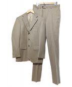 TOMORROW LAND PILGRIM(トゥモローランドピルグリム)の古着「ウールモヘヤギャバジン3Bスーツ」|ベージュ
