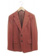 TOMORROW LAND(トゥモローランド)の古着「ウールフランネル2Bジャケット」|ブラウン