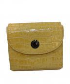 Hamano(ハマノ)の古着「型押し3つ折り財布」 イエロー
