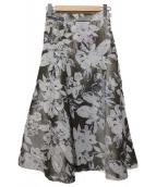 Apuweiser-riche(アプワイザーリッシェ)の古着「フラワージャガードスカート」|グレー