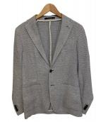 TAGLIATORE(タリアトーレ)の古着「シルク&リネン メッシュ 2B ジャケット」|ブルー