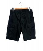 DESCENDANT(ディセンダント)の古着「DWU SATIN SHORTS」|ブラック
