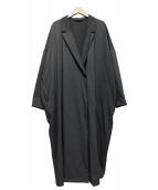 mizuiro-ind(ミズイロインド)の古着「ストレッチテーラードコート」|グレー