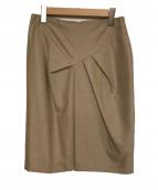 MaxMara(マックスマーラ)の古着「ヴァージンウールシルクスカート」|ベージュ