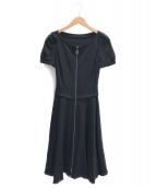 FOXEY NEWYORK(フォクシーニューヨーク)の古着「ポロストレッチジャージードレス」|ブラック