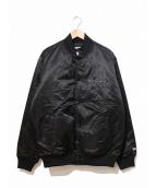 YOHJI YAMAMOTO×New Era(ヨウジヤマモト×ニューエラ)の古着「ボンバージャケット / バーシティジャケット」|ブラック