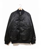 YOHJI YAMAMOTO×New Era(ヨウジヤマモト×ニューエラ)の古着「ボンバージャケット / バーシティジャケット」 ブラック