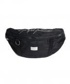 YOHJI YAMAMOTO×New Era(ヨウジヤマモト×ニューエラ)の古着「ロゴ刺繍ウエストバッグ」 ブラック