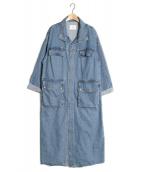 Ameri VINTAGE(アメリビンテージ)の古着「デニムワークロングコート」