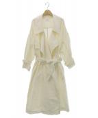 Ameri VINTAGE(アメリビンテージ)の古着「BIG COLLAR LONG COAT」 オフホワイト