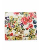 DOLCE & GABBANA(ドルチェアンドガッバーナ)の古着「花柄2つ折り財布」|ホワイト