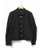 tricot COMME des GARCONS(トリコ コムデギャルソン)の古着「リネン×レーヨンジャケット」 ブラック