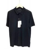 ROBERTO COLLINA(ロベルトコリーナ)の古着「フルボタンショートスリーブポロ」|ネイビー