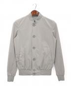 HERNO()の古着「ナイロンボンバージャケット」|グレー