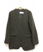 JANE SMITH(ジェーンスミス)の古着「ウールノーカラージャケット」|グレー