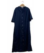 FRAMeWORK(フレームワーク)の古着「ビッグガウンシャツワンピース」|ネイビー