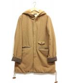 Palme dOr(パルムドール)の古着「メルトンフーデッドコート」|ベージュ