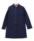 Traditional Weatherwear(トラディショナル ウェザーウェア)の古着「中綿ウールキルティングコート」|ネイビー