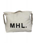MHL(エムエイチエル)の古着「キャンバスバッグ」|ホワイト