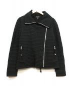 EPOCA(エポカ)の古着「ニットライダースジャケット」|ブラック