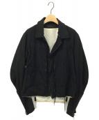 Y's(ワイズ)の古着「ベルテッドカットオフジャケット」|ブラック