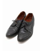 G.B.H(ジー・ビー・エイチ)の古着「[古着]ヴィンテージクロコダイルレザーシューズ」|ブラック