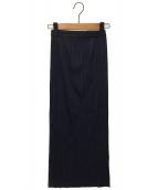 PLEATS PLEASE(プリーツプリーズ)の古着「ストレートプリーツスカート」|ネイビー