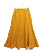 SLOBE IENA(イエナスローブ)の古着「ストレッチウール マーメイドスカート」|イエロー