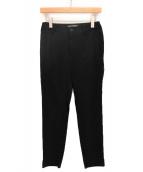 ISSEY MIYAKE(イッセイミヤケ)の古着「ストレートパンツ」|ブラック