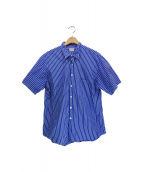 STEVEN ALAN(スティーヴンアラン)の古着「THOMAS MASON REVERSE SEAM-BOLD」|ブルー×ホワイト
