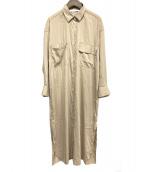 FRAMeWORK(フレームワーク)の古着「シャツワンピース」|ベージュ