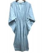 MARIHA(マリハ)の古着「カフタンワンピース」 ライトブルー