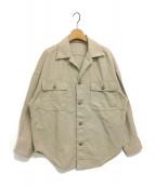 Plage(プラージュ)の古着「製品加工Bigアーミーシャツ」 ベージュ