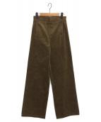 TOGA PULLA(トーガ プルラ)の古着「コーデュロイワイドマリンパンツ」|ブラウン