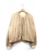 Demi-Luxe BEAMS(デミルクスビームス)の古着「Vネックギャザーブルゾン」|ベージュ