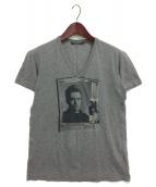DOLCE & GABBANA(ドルチェアンドガッバーナ)の古着「ジェームズディーンVネックTシャツ」|グレー