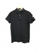 MONCLER(モンクレール)の古着「半袖ポロシャツ」|ブラック